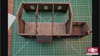 PO232 Metcalfe OO Scale Gauge Model Railway Goods Shed Card Kit Brand New
