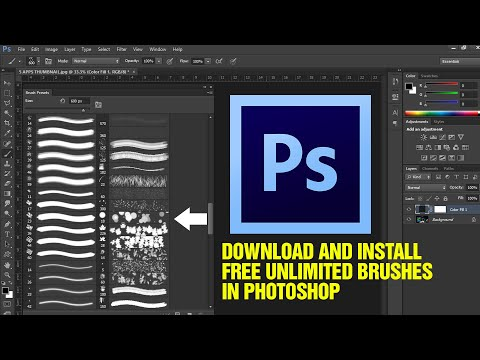 How To Download And INSTALL UNLIMITED CUSTOM BRUSHES In Photoshop