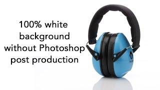 white background in product photography using dedolight led lighting no photoshop