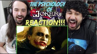 The PSYCHOLOGY of THE JOKER 'The Dark Knight' - REACTION!!!