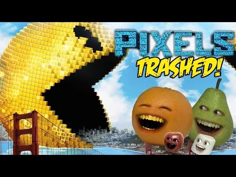 Annoying Orange - PIXELS TRAILER Trashed!!