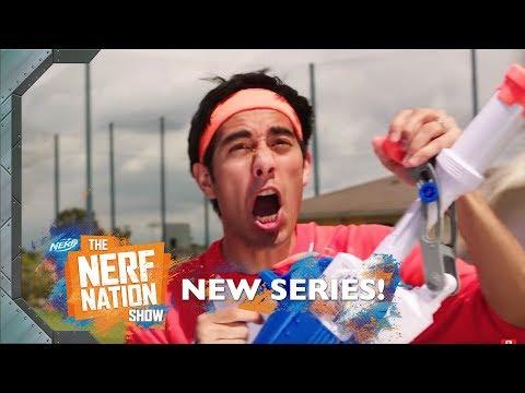EPIC SUPER SOAKER BATTLE 💦 W/ Zach King, VFXBro & Jamie Costa   The NERF Nation Show Episode 3