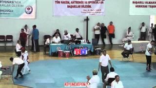 55kg Eda Ozdemir vs Cansu Kilic (Turkish Junior TKD Championships 2015)