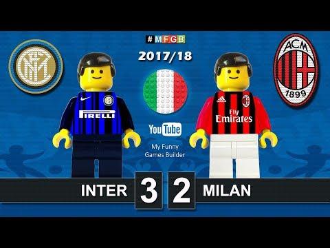 Inter vs Milan 3-2 • Derby Milano Serie A (15/10/2017) Goal Highlights Film Lego Calcio 2017/18