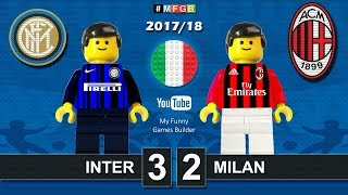 Inter Milan 3-2 • Derby Milano Serie A (15/10/2017) goal highlights sintesi Lego Calcio 2017/18