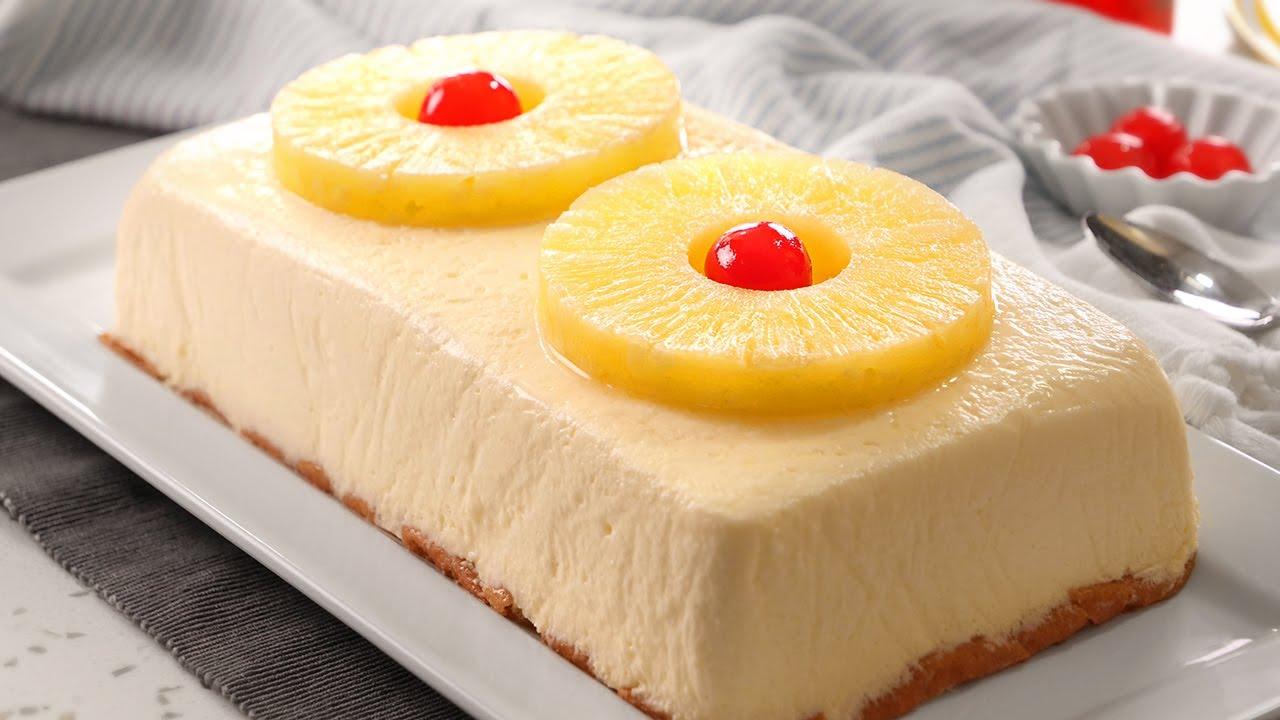 Tarta de Piña sin Horno | Postre muy Fácil, Rápido y Delicioso
