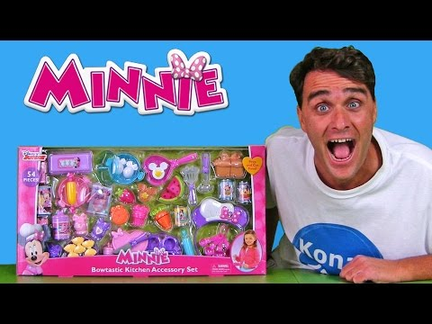 Minnie Mouse Bowtastic Kitchen Accessory Set! || Toy ...