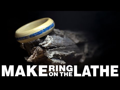 How to Make a Ring on the Lathe | Stone Inlay