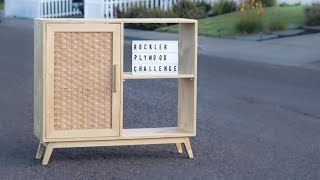 DIY Woven Plywood Mid Century Modern Whiskey Bar / Credenza / Rockler Plywood Challenge