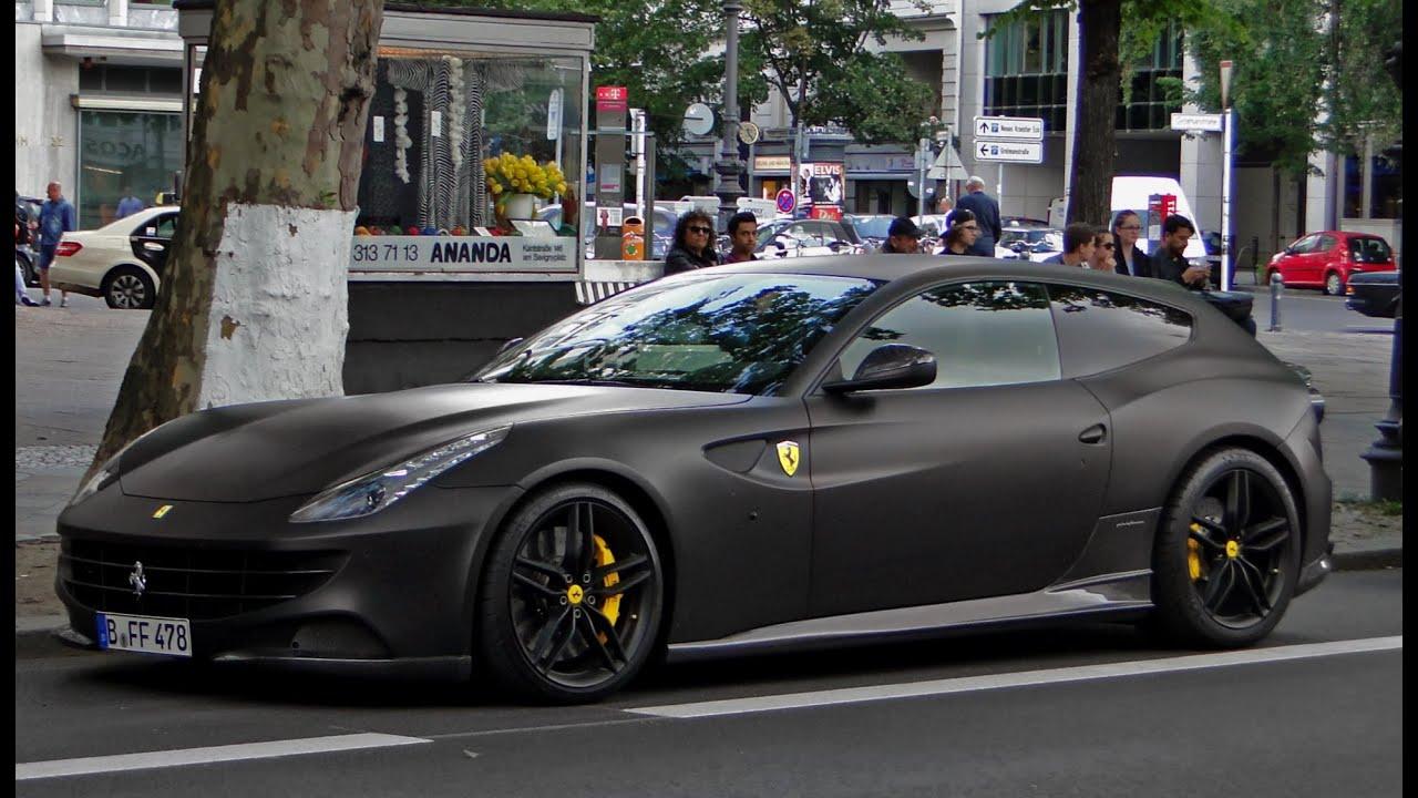 Matte Black Ferrari Ff In Berlin Germay Youtube