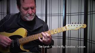 Tim Lerch  - You Are My Sunshine - Solo Guitar Lesson
