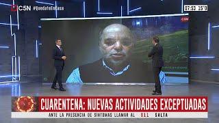 Cuarentena: Nuevas Actividades Exceptuadas