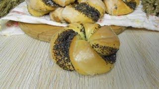 Простые в приготовлении булочки с маком.Всегда такие вкусные!