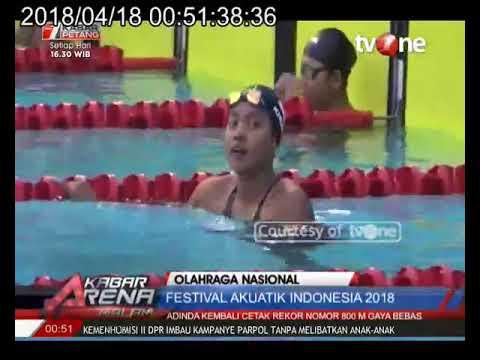 Adinda Kembali Catatkan Rekornas di Festival Akuatik Indonesia 2018 Mp3