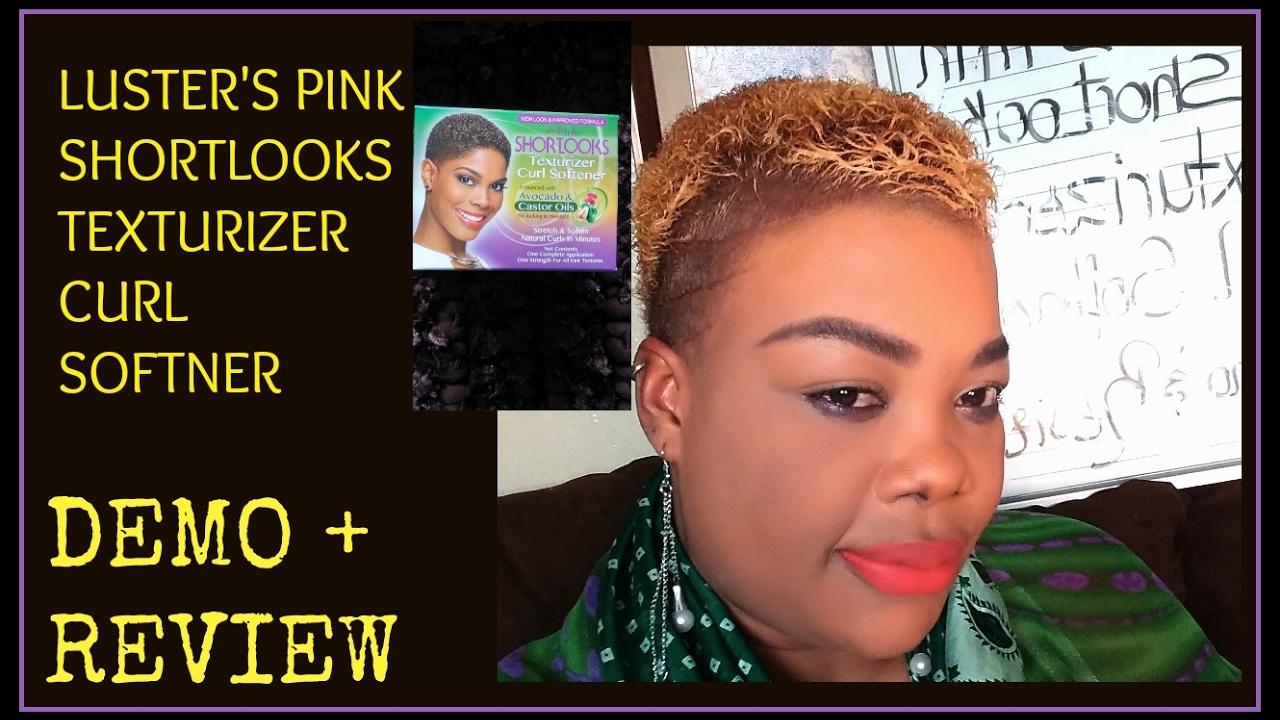 Luster S Pink Shortlooks Texturizer Curl Softner 4c