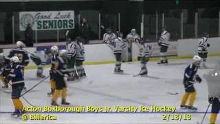 Acton Boxborough Jr Varsity Boys Hockey @ Billerica 2/13/13