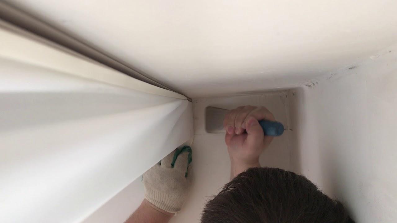Как сделать скрытую гардину на натяжном потолке!!!