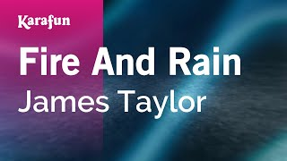 Karaoke Fire And Rain - James Taylor *