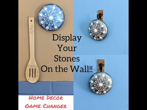 Attention Rock Painters ~ Home Decor ~Awesome New Stone Display Idea ~ Review by Miranda Pitrone Art