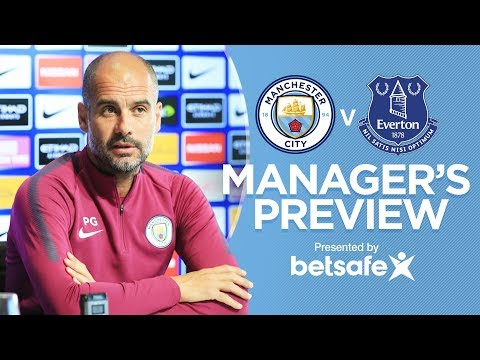 EVERTON HAVE A TOP SQUAD | City v Everton 17/18 | Guardiola Press Conference