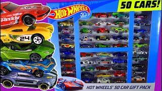 Unboxing Hot Wheels 50 CAR GIFT PACK - Opening Collector's Box Set of Diecast Cars