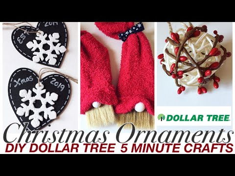 DOLLAR TREE DIY Christmas 2019 decor | Ornaments | Christmas Crafts