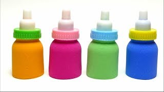 Kinetic Sand Colors Baby Bottle Toy - DIY Mold Playing