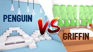 GRIFFIN VS PENGUIN Bedroom Design Ideas & Building Hacks (Roblox Adopt me) | Its SugarCoffee