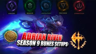 Adrian Riven Runes guide Preseason/Season 9