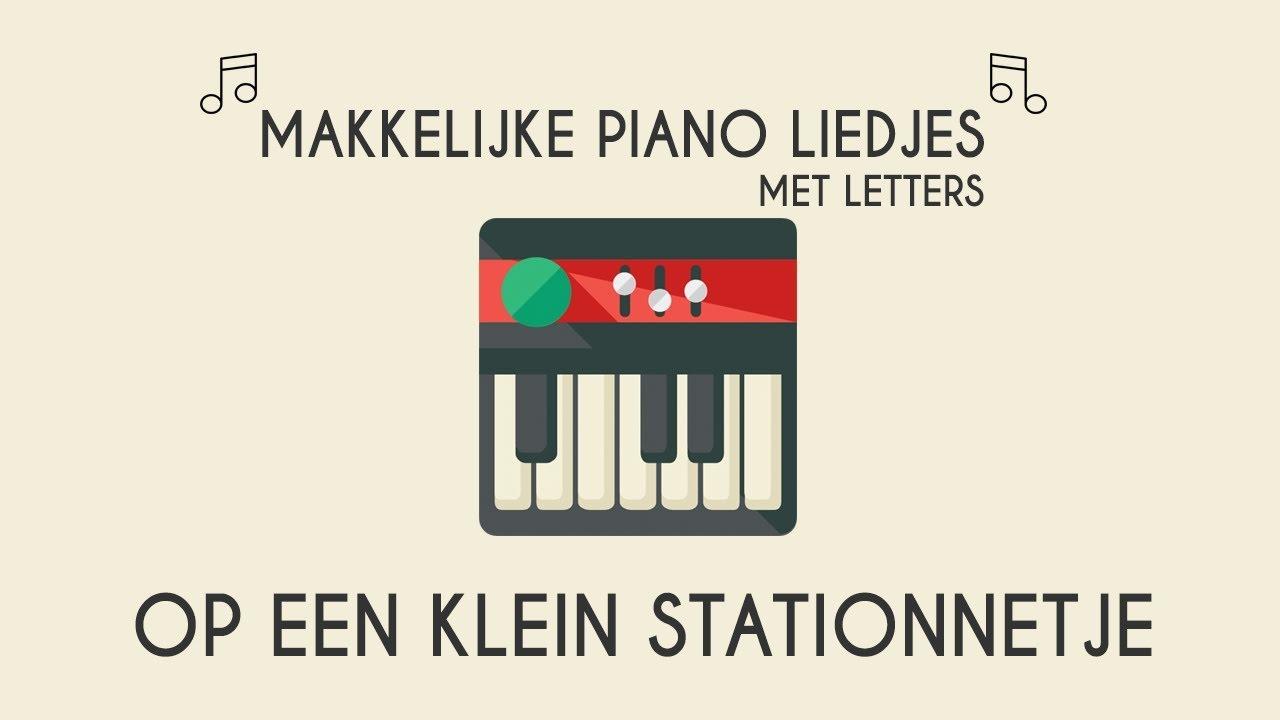 Betere op een klein stationnetje makkelijke piano versie.Piano leren YN-76