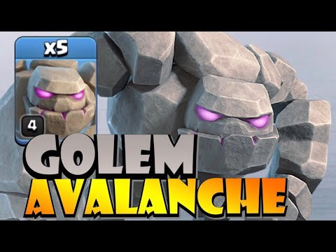 TH9 Golem Avalanche Attack Strategy - Best TH9 Attack Strategies In Clash Of Clans