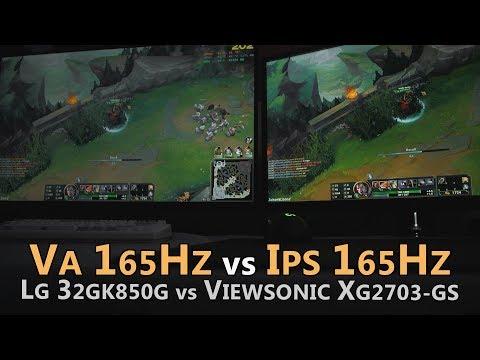 VA vs IPS - LG 32GK850G vs Viewsonic XG2703-GS - Colors, Blacks & Response Time
