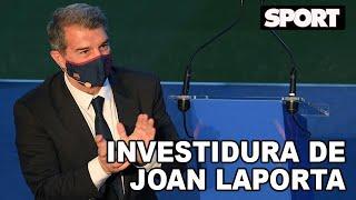 JOAN LAPORTA 🔵🔴 INVESTIDURA COMO NUEVO PRESIDENTE DEL FC BARCELONA