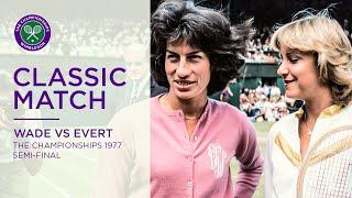 Chris Evert Vs Virginia Wade   Wimbledon 1977 Semi-final   Full Match