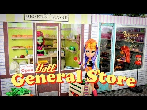 How to Make a Doll General Store - Doll Crafts