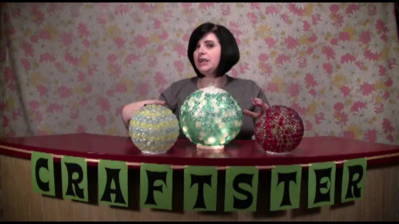 How To Make Sparkly Garden Gazing Balls Youtube