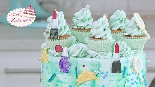 Ich backen mit meiner Nichte I einfache Motivtorte I Make up Torte