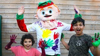 LEARN COLORS FOR CHILDREN BODY PAINT FINGER FAMILY SONG NURSERY RHYMES LEARNING