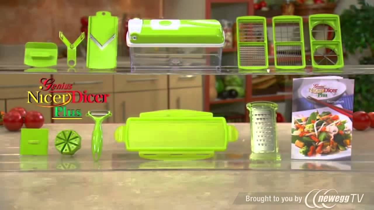 nicer dicer genius nicerdicer plus as seen on tv multi chopper 12 pieces product tour youtube. Black Bedroom Furniture Sets. Home Design Ideas