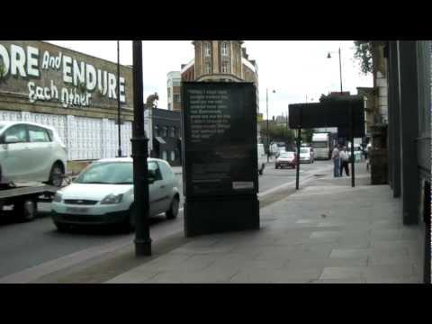 STOCK SHOT CLIP NAT SOUND  SANY0469.MP4 shoreditch Great Eastern Street, London, England