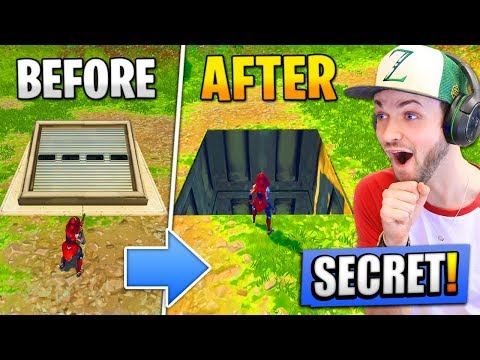 Opening the *SECRET* BUNKER - What's INSIDE? (Fortnite: Battle Royale)