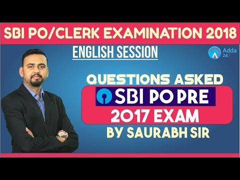SBI PO/CLERK | Questions Asked in SBI PO Pre