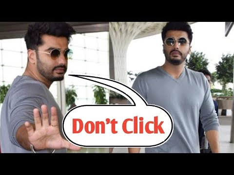 Angry Arjun Kapoor says Media to Stop Clicking Pictures Arjun at Airport Off to Patiala