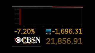 CBS News Special Report: Trading halted after markets plunge in wake of Trump's travel ban