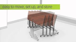 Height Adjustable Sit-stand Flipper Tables
