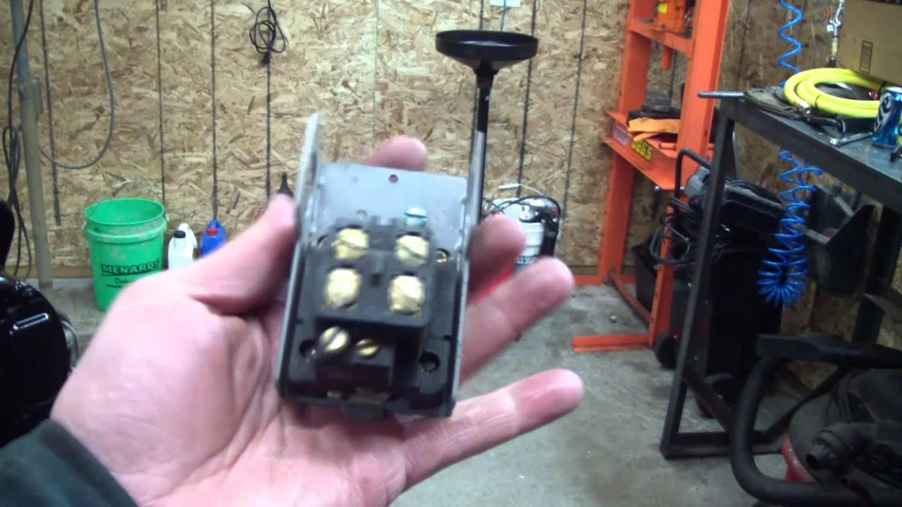 air compressor unloader pressure switch in action youtube