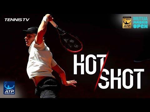 Hot Shot: Shapovalov's Sizzling Backhand Whizzes Past Raonic In Madrid 2018