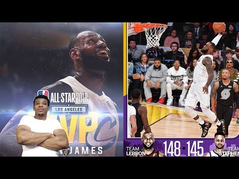 BEST ALL STAR GAME EVER !! LEBRON JAMES WINS MVP ! 2018 ALL STAR GAME !