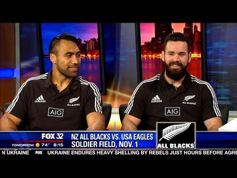 New Zealand All Blacks Invade Soldier Field For Match With USA Eagles