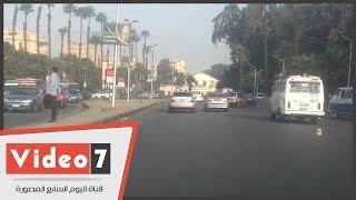 النشرة المرورية.. زحام مكثف أعلى كوبرى 6 أكتوبر والطريق الدائرى بالقاهرة والجيزة (فيديو)
